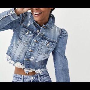 989659606ab49 Zara Jackets   Coats - Zara Puff Sleeve Denim Jacket